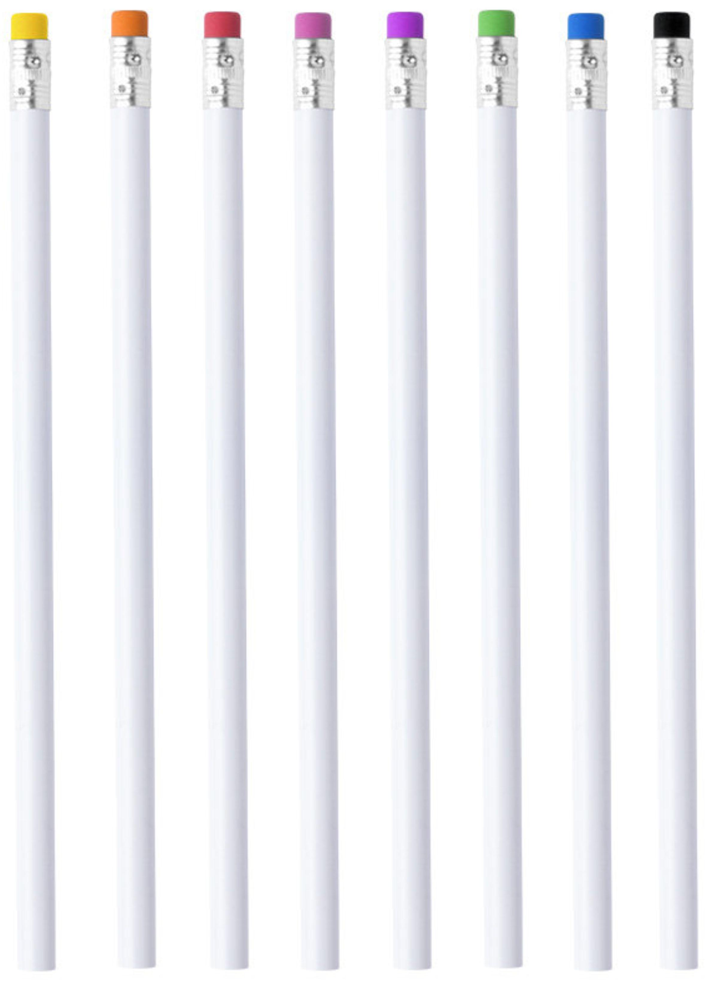 белые карандаши с логотипом
